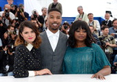 Actress Melonie Diaz actor Michael B Jordan and actress Octavia Spencer attend the 'Fruitvale Station' Photocall during the 66th Annual Cannes Film...