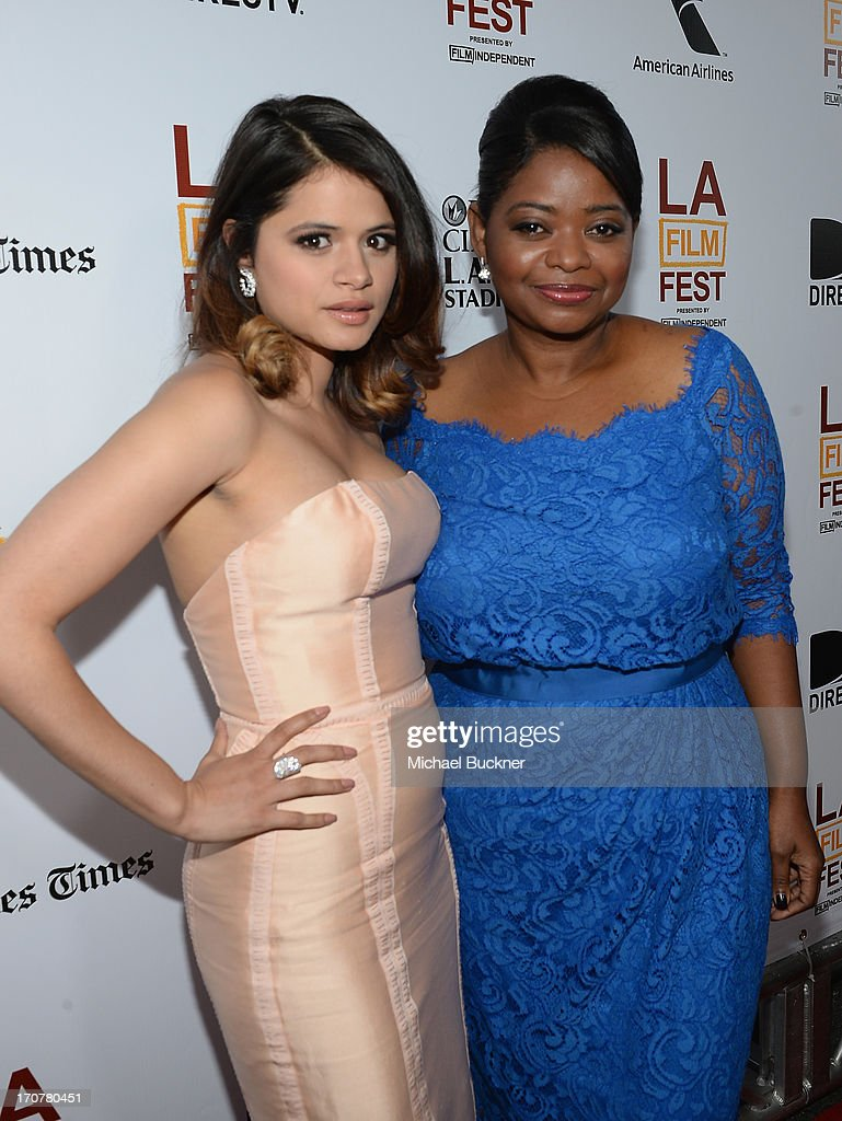 Actress Melonie Diaz (L) and actress Octavia Spencer arrive at the premiere of The Weinstein Company's 'Fruitvale Station' at Regal Cinemas L.A. Live on June 17, 2013 in Los Angeles, California.