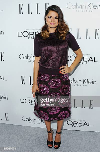Actress Melonie Diaz arrives at ELLE Celebrates 20th Annual Women In Hollywood Event at Four Seasons Hotel Los Angeles at Beverly Hills on October 21...