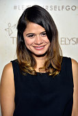 Actress Melonie Diaz arrives at Hudson Jeans Presents The Art of Elysium's Genesis Celebrating Emerging Artists at Siren Cube on September 20 2013 in...