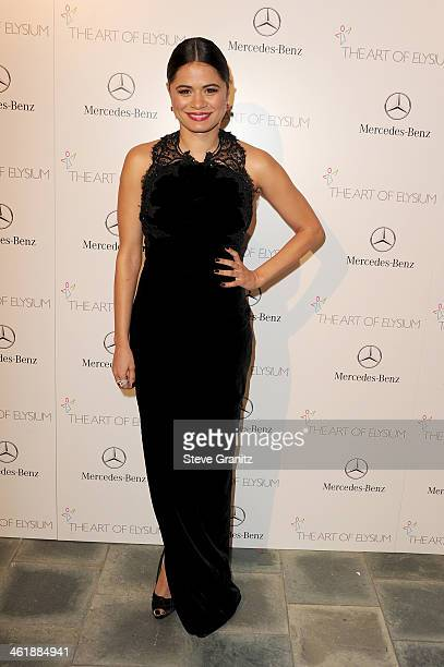 Actress Melonie Diaz arrives at The Art of Elysium's 7th Annual HEAVEN Gala presented by MercedesBenz at Skirball Cultural Center on January 11 2014...