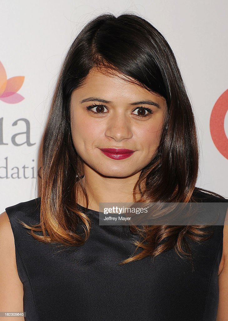 Actress Melonie Diaz arrives at the Eva Longoria Foundation Dinner at Beso restaurant on September 28, 2013 in Hollywood, California.