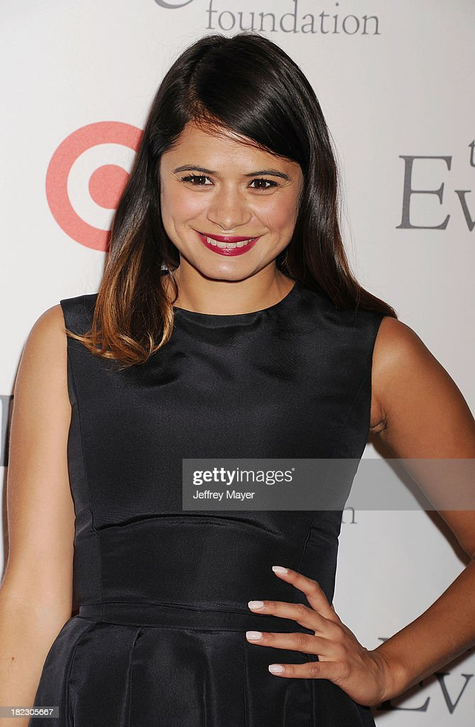 Actress <a gi-track='captionPersonalityLinkClicked' href=/galleries/search?phrase=Melonie+Diaz&family=editorial&specificpeople=3323742 ng-click='$event.stopPropagation()'>Melonie Diaz</a> arrives at the Eva Longoria Foundation Dinner at Beso restaurant on September 28, 2013 in Hollywood, California.