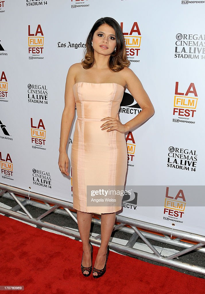 Actress Melonie Diaz arrives at the premiere of The Weinstein Company's 'Fruitvale Station' during the 2013 Los Angeles Film Festival at Regal Cinemas L.A. Live on June 17, 2013 in Los Angeles, California.