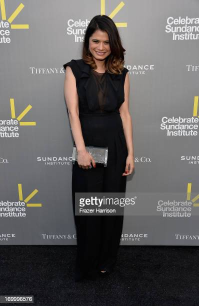 Actress Melonie Diaz attends the 2013 'Celebrate Sundance Institute' Los Angeles Benefit hosted by Tiffany Co at The Lot on June 5 2013 in West...