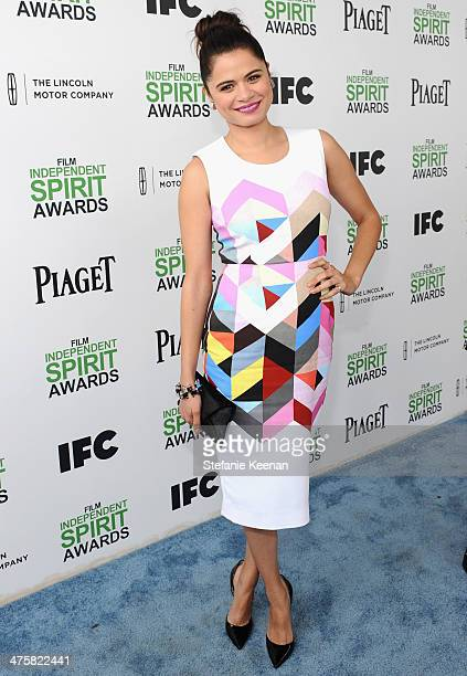 Actress Melonie Diaz attends the 2014 Film Independent Spirit Awards at Santa Monica Beach on March 1 2014 in Santa Monica California