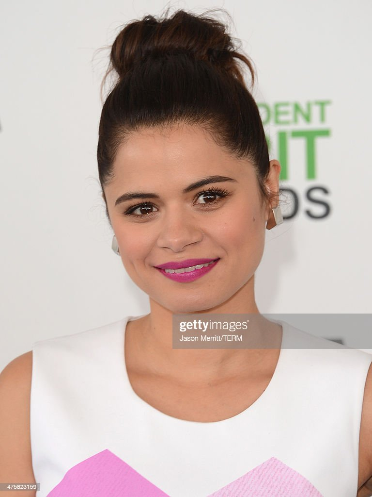Actress Melonie Diaz attends the 2014 Film Independent Spirit Awards at Santa Monica Beach on March 1, 2014 in Santa Monica, California.