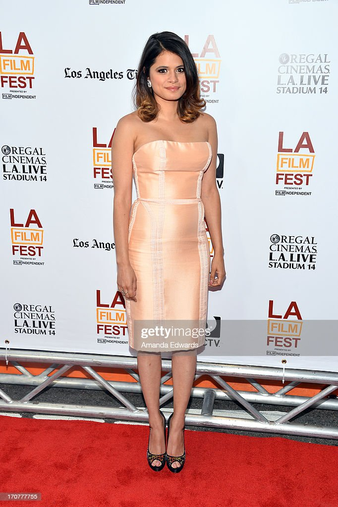 Actress Melonie Diaz attends the 'Fruitvale Station' premiere during the 2013 Los Angeles Film Festival at Regal Cinemas L.A. Live on June 17, 2013 in Los Angeles, California.