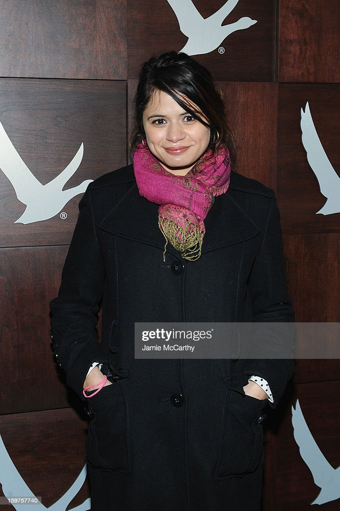 Actress <a gi-track='captionPersonalityLinkClicked' href=/galleries/search?phrase=Melonie+Diaz&family=editorial&specificpeople=3323742 ng-click='$event.stopPropagation()'>Melonie Diaz</a> attends the Grey Goose Blue Door 'Fruitvale' Dinner on January 19, 2013 in Park City, Utah.