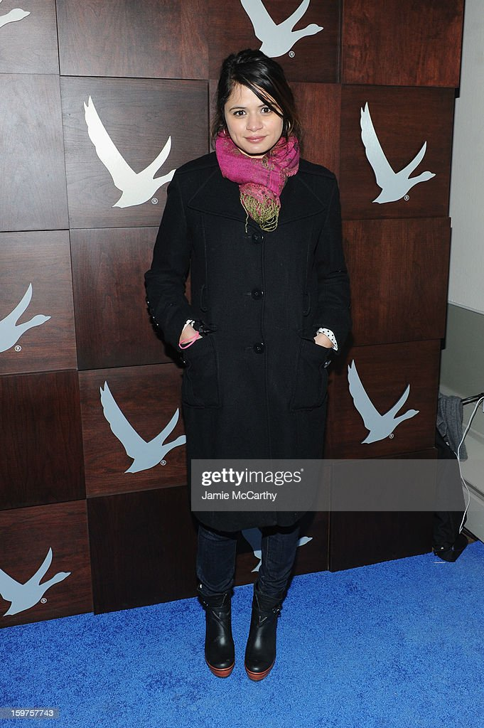 Actress Melonie Diaz attends the Grey Goose Blue Door 'Fruitvale' Dinner on January 19, 2013 in Park City, Utah.