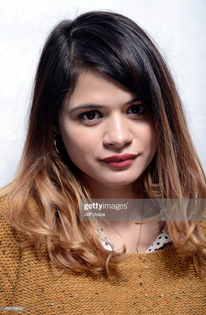 Actress Melonie Diaz poses for a portrait during the 2013 Sundance Film Festival at the WireImage Portrait Studio at Village At The Lift on January 19, 2013 in Park City, Utah.
