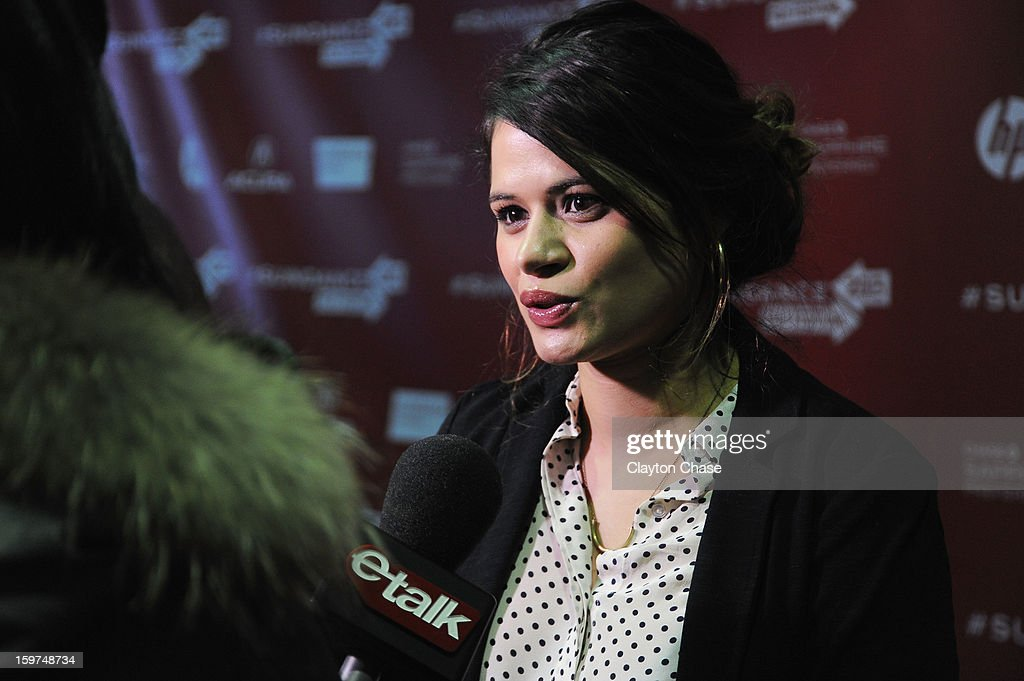 Actress Melonie Diaz speaks at the 'Fruitvale' premiere at The Marc Theatre during the 2013 Sundance Film Festival on January 19, 2013 in Park City, Utah.