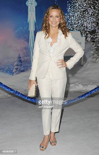 Actress Melora Hardin arrives at the Los Angeles Premiere 'Frozen' at the El Capitan Theatre on November 19 2013 in Hollywood California