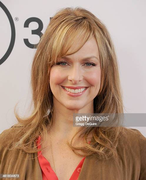 Actress Melora Hardin arrives at the Los Angeles premiere of 'The Nut Job' at Regal Cinemas LA Live on January 11 2014 in Los Angeles California