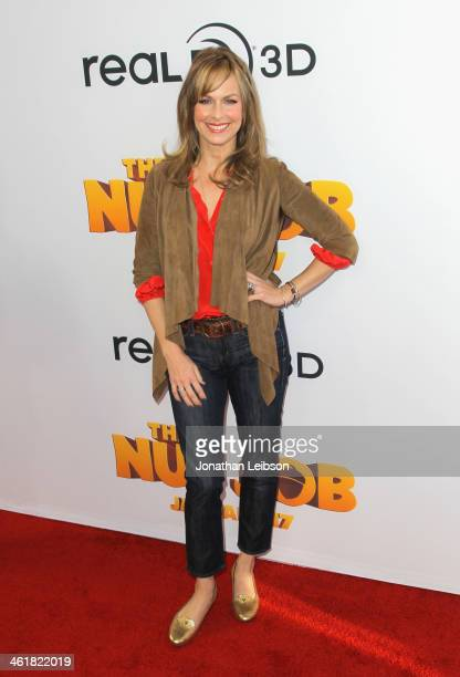 Actress Melora Hardin arrives at 'The Nut Job' Los Angeles Premiere at Regal Cinemas LA Live on January 11 2014 in Los Angeles California