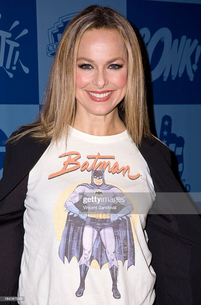 Actress Melora Hardin attends the launch of the Batman classic TV series licensing program at Meltdown Comics and Collectibles on March 21, 2013 in Los Angeles, California.