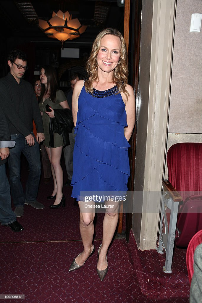 Actress <a gi-track='captionPersonalityLinkClicked' href=/galleries/search?phrase=Melora+Hardin&family=editorial&specificpeople=233545 ng-click='$event.stopPropagation()'>Melora Hardin</a> attends the Opening Night of 'Rock of Ages' at the Pantages Theatre on February 15, 2011 in Hollywood, California.