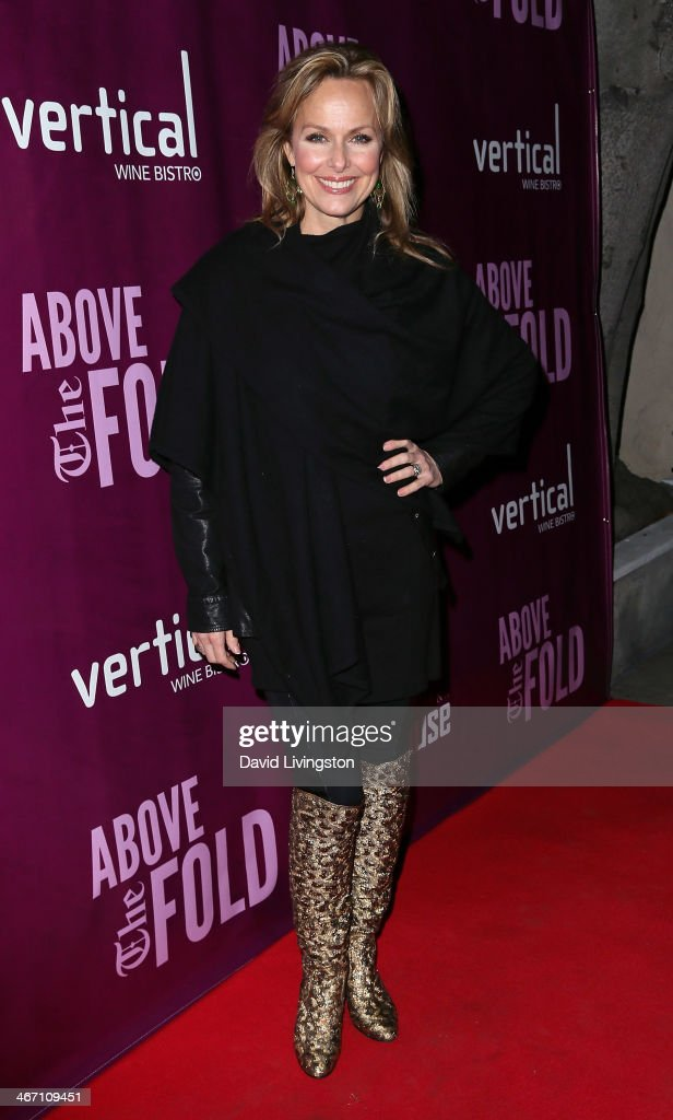 Actress <a gi-track='captionPersonalityLinkClicked' href=/galleries/search?phrase=Melora+Hardin&family=editorial&specificpeople=233545 ng-click='$event.stopPropagation()'>Melora Hardin</a> attends the opening night performance of 'Above the Fold' at the Pasadena Playhouse on February 5, 2014 in Pasadena, California.