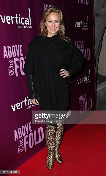 Actress Melora Hardin attends the opening night performance of 'Above the Fold' at the Pasadena Playhouse on February 5 2014 in Pasadena California