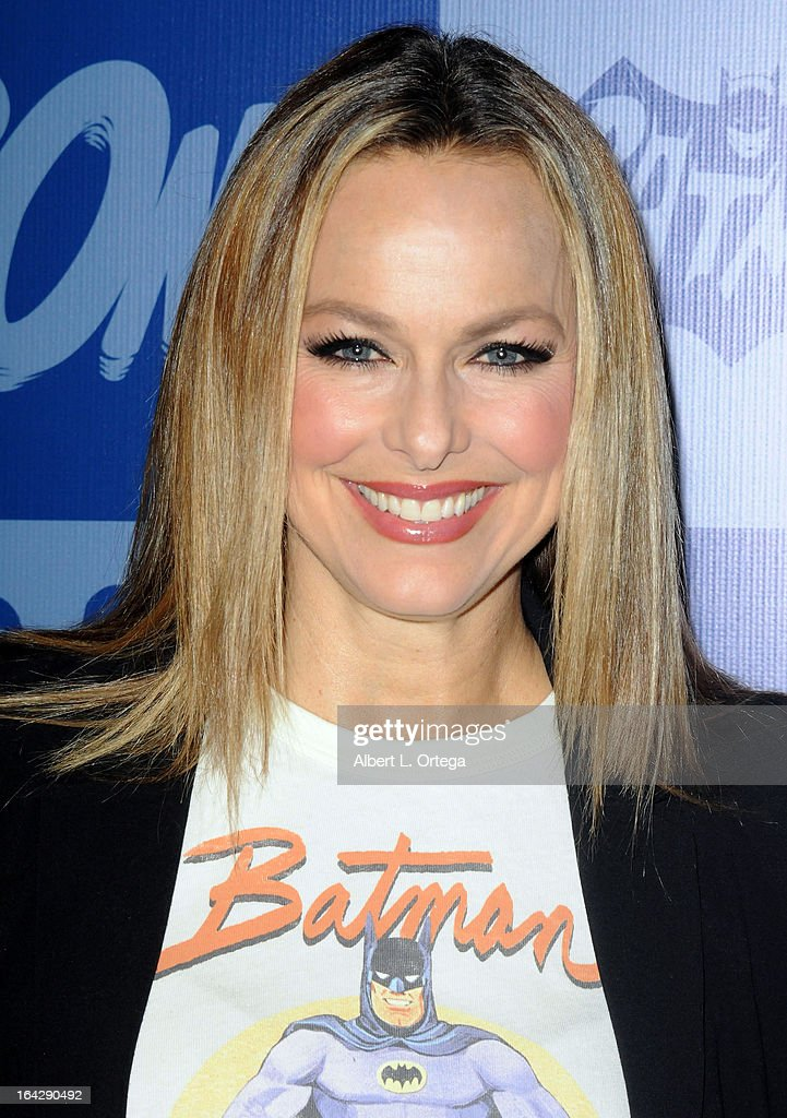 Actress Melora Hardin attends the Warner Bros. Consumer Products And Junk Food Celebrate The Launch Of The Batman Classic TV Series Licensing Program held at Meltdown Comics and Collectibles on March 21, 2013 in Hollywood, California.