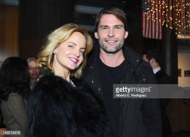 Actress Mena Suvari and actor Sean William Scott arrive at Magnet Releasing's Los Angeles Screening of 'Goon' at DGA Theater on February 29 2012 in...