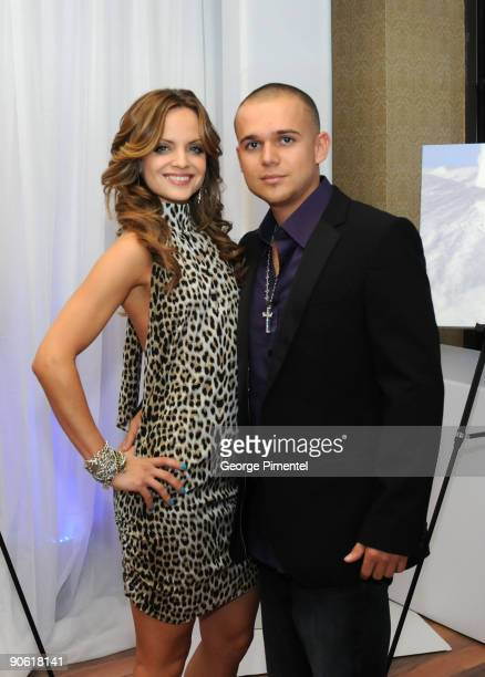 Actress Mena Suvari and Producer Simone Sestito poses at Nigel Barker's 'A Sealed Fate' Celebrities Supporting HSUS' Protect Seals Campaign held at...