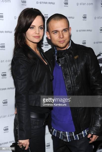 Actress Mena Suvari and Sestito Simone attend the GStar Raw Presents NY Raw Fall/Winter 2010 Collection at Hammerstein Ballroom on February 16 2010...