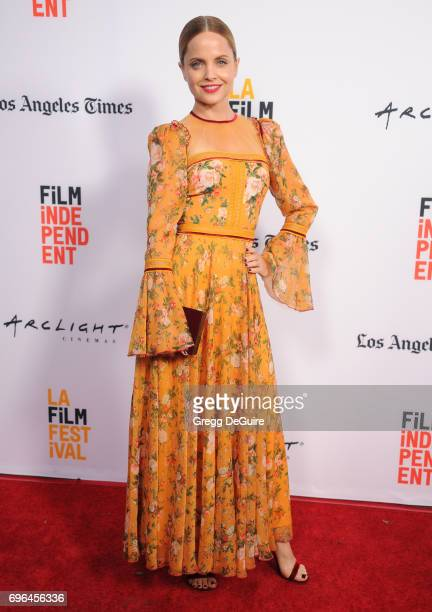 Actress Mena Suvari arrives at the 2017 Los Angeles Film Festival Premiere Of 'Becks' at Arclight Cinemas Culver City on June 15 2017 in Culver City...
