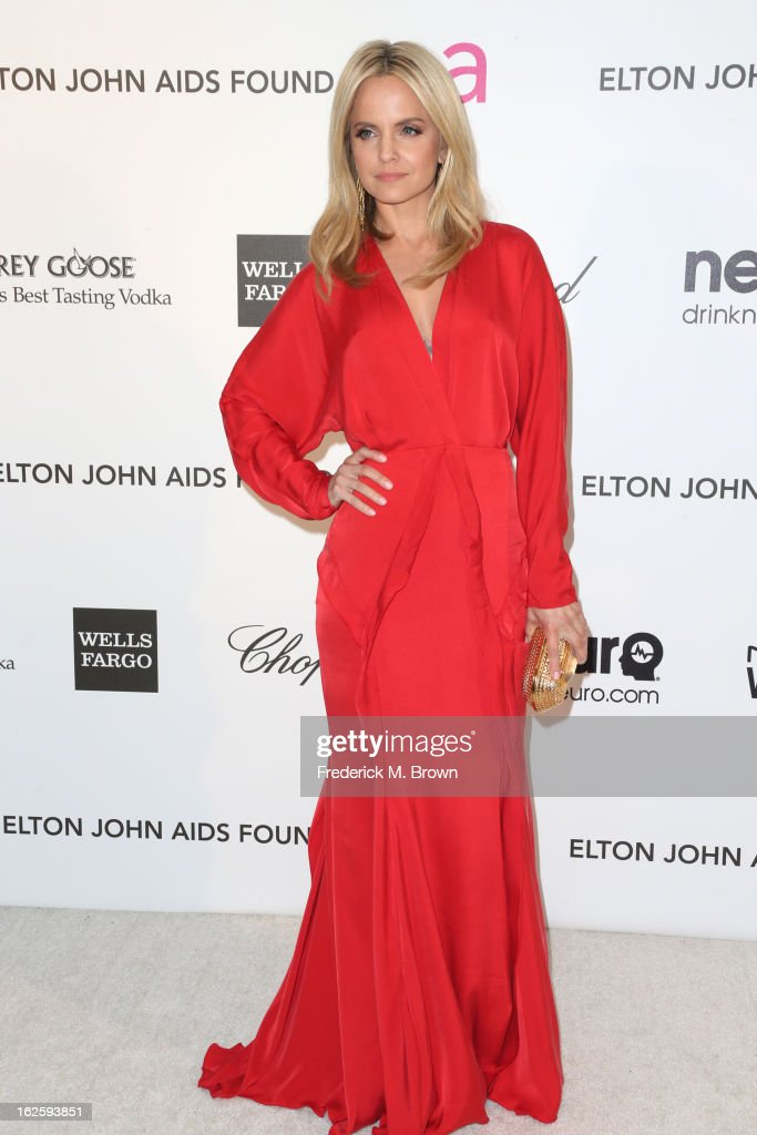 Actress Mena Suvari arrives at the 21st Annual Elton John AIDS Foundation's Oscar Viewing Party on February 24, 2013 in Los Angeles, California.
