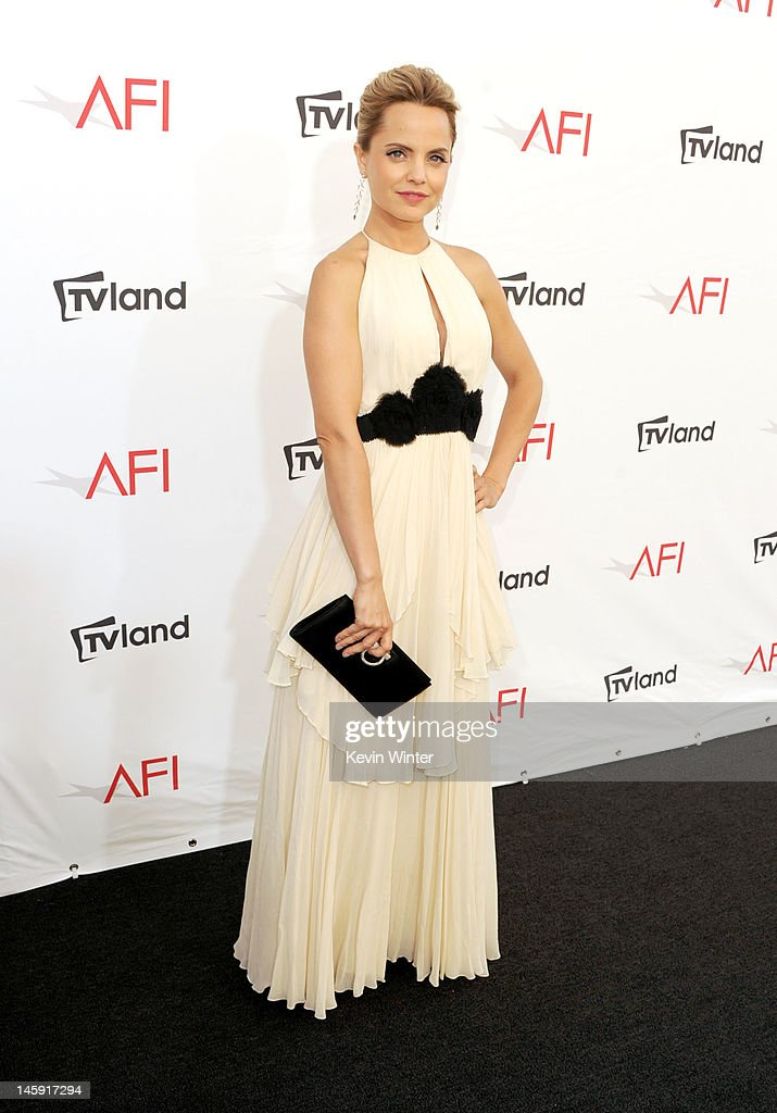 Actress Mena Suvari arrives at the 40th AFI Life Achievement Award honoring Shirley MacLaine held at Sony Pictures Studios on June 7, 2012 in Culver City, California. The AFI Life Achievement Award tribute to Shirley MacLaine will premiere on TV Land on Saturday, June 24 at 9PM