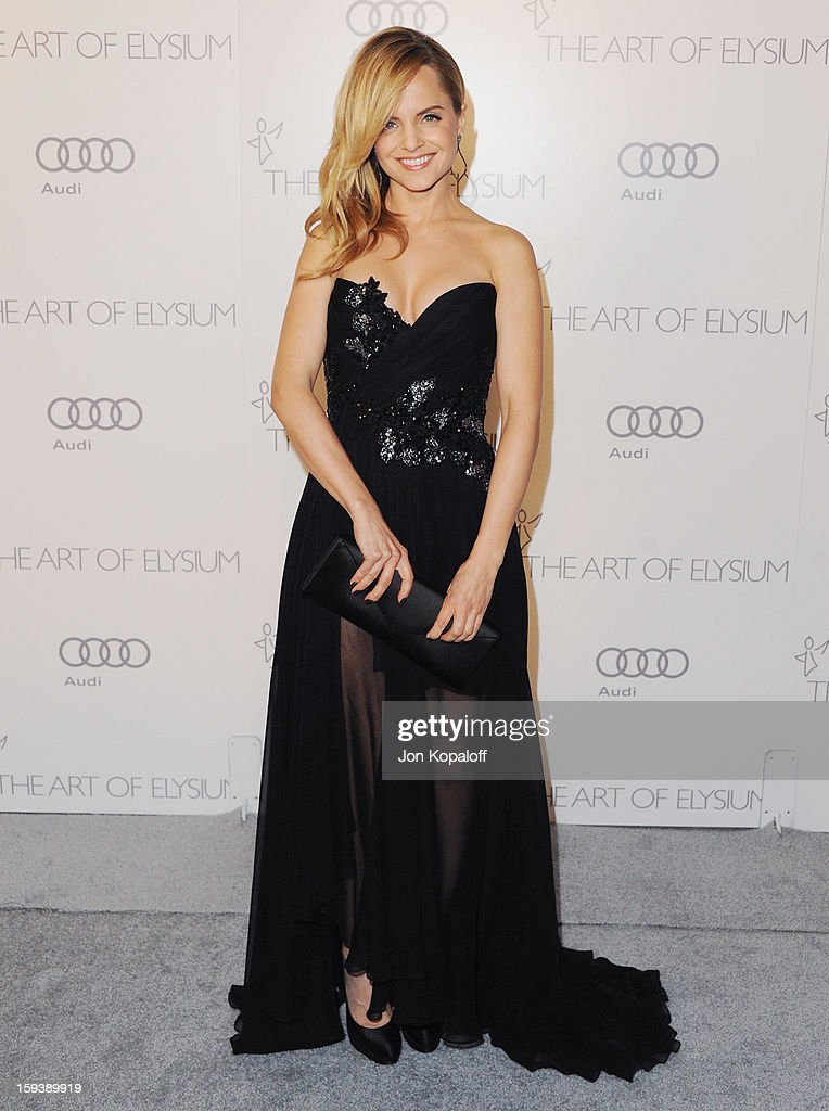 Actress Mena Suvari arrives at the Art Of Elysium's 6th Annual Heaven Gala on January 12, 2013 in Los Angeles, California.