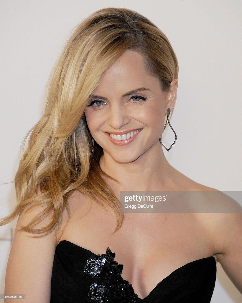 Actress Mena Suvari arrives at The Art of Elysium's Heaven Gala at 2nd Street Tunnel on January 12, 2013 in Los Angeles, California.