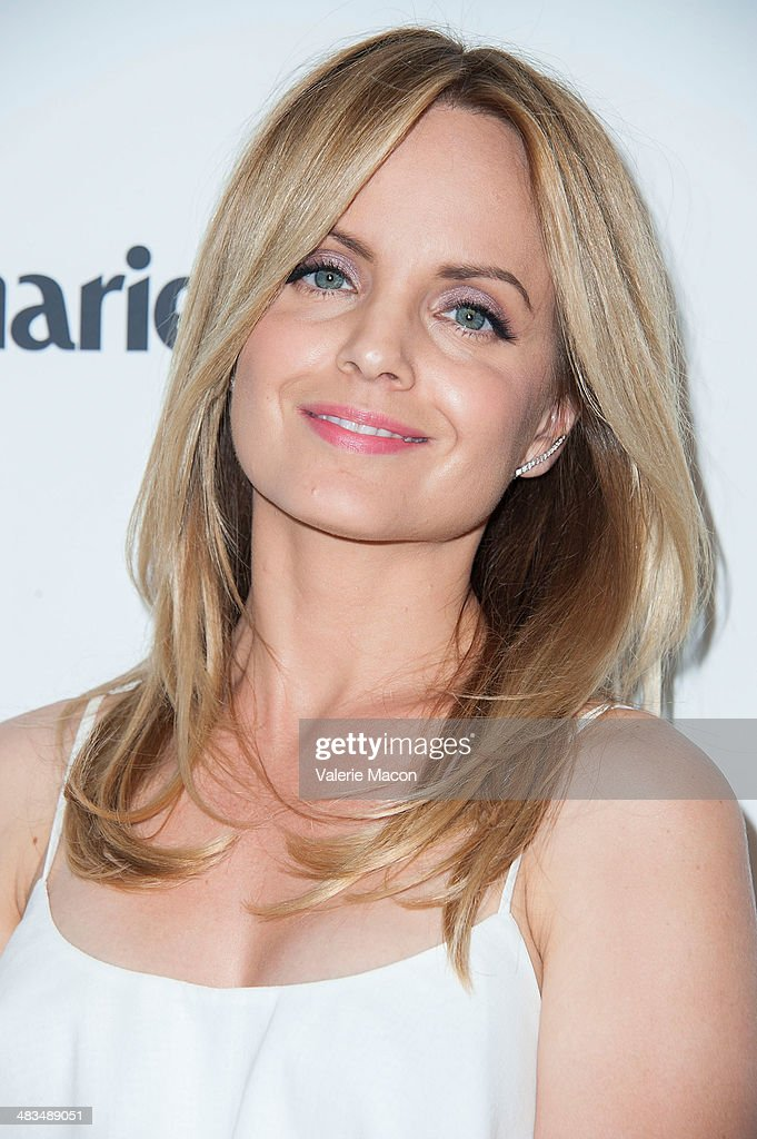 Actress <a gi-track='captionPersonalityLinkClicked' href=/galleries/search?phrase=Mena+Suvari&family=editorial&specificpeople=156413 ng-click='$event.stopPropagation()'>Mena Suvari</a> arrives at the Marie Claire's Fresh Faces Party at Soho House on April 8, 2014 in West Hollywood, California.