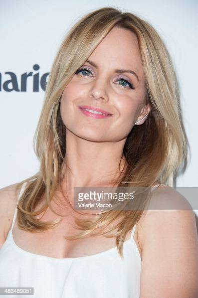 Actress Mena Suvari arrives at the Marie Claire's Fresh Faces Party at Soho House on April 8 2014 in West Hollywood California