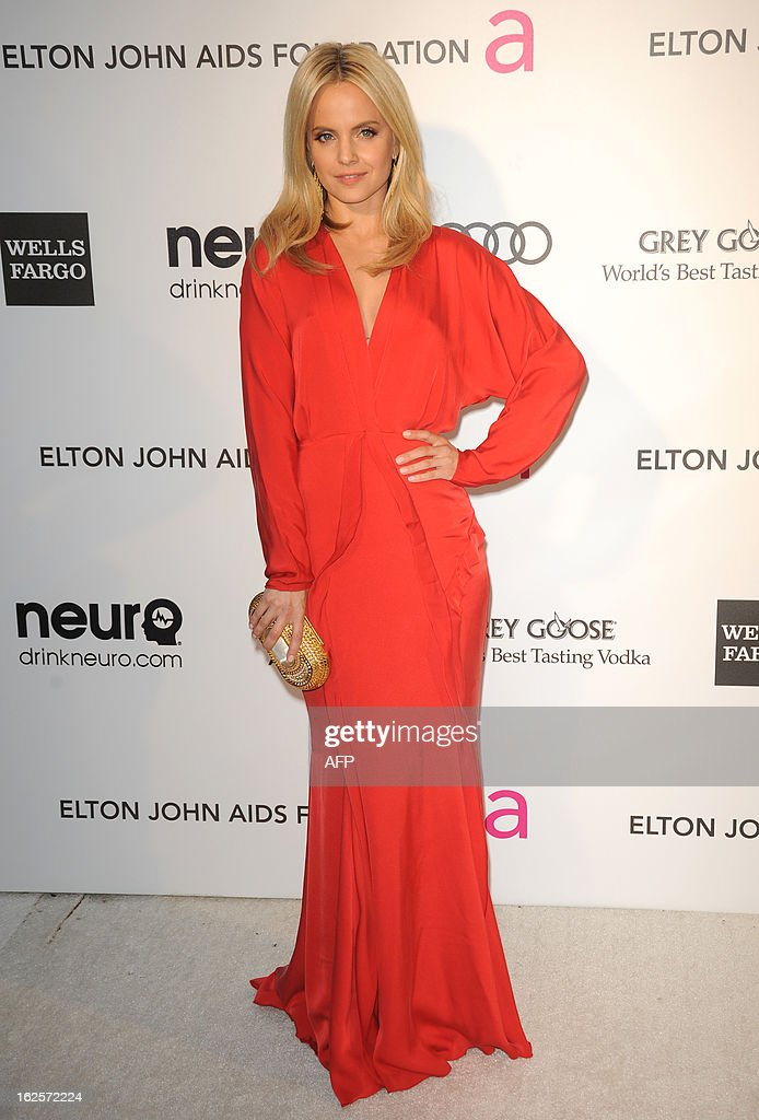 Actress Mena Suvari arrives for the 21st Annual Elton John AIDS Foundation's Oscar Viewing Party February 24, 2013 in Hollywood, California. AFP PHOTO/Mehdi TAAMALLAH