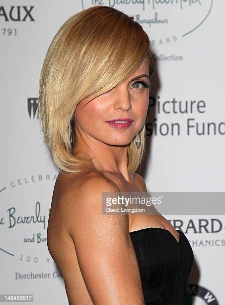 Actress Mena Suvari attends an intimate cocktail celebration hosted by Brett Ratner in conjunction with the 100th anniversary celebration of The...