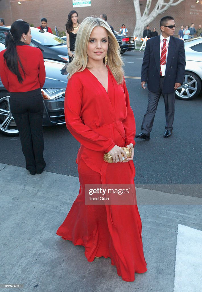Actress Mena Suvari attends Audi at 21st Annual Elton John AIDS Foundation Academy Awards Viewing Party at West Hollywood Park on February 24, 2013 in West Hollywood, California.