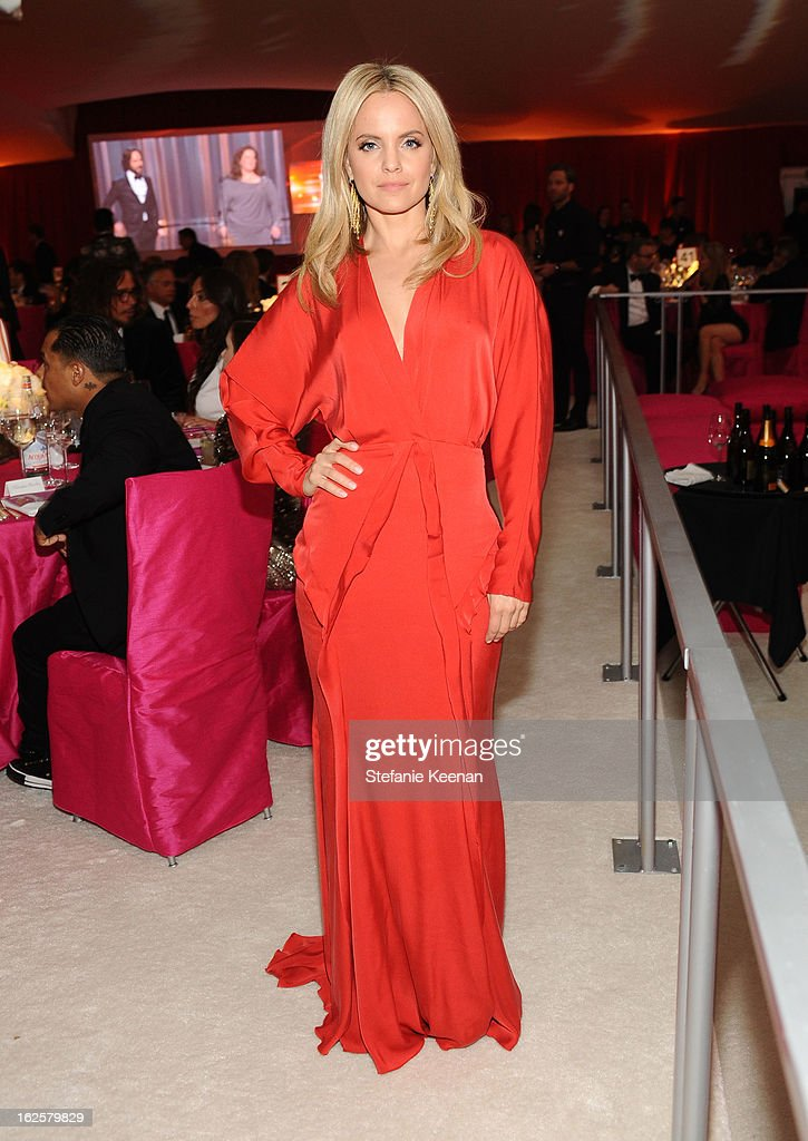 Actress Mena Suvari attends Chopard at 21st Annual Elton John AIDS Foundation Academy Awards Viewing Party at West Hollywood Park on February 24 2013...