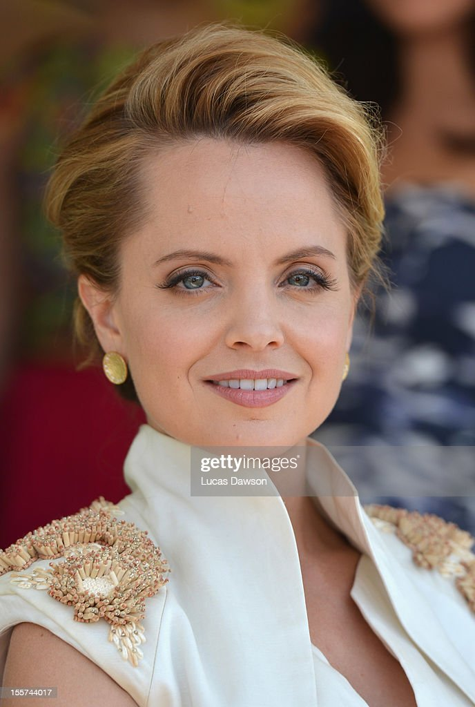 Actress Mena Suvari attends Crown Oaks Day at Flemington Racecourse on November 8, 2012 in Melbourne, Australia.