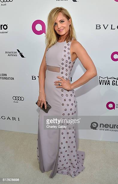 Actress Mena Suvari attends Neuro at the 24th Annual Elton John AIDS Foundation's Oscar Viewing Party at The City of West Hollywood Park on February...