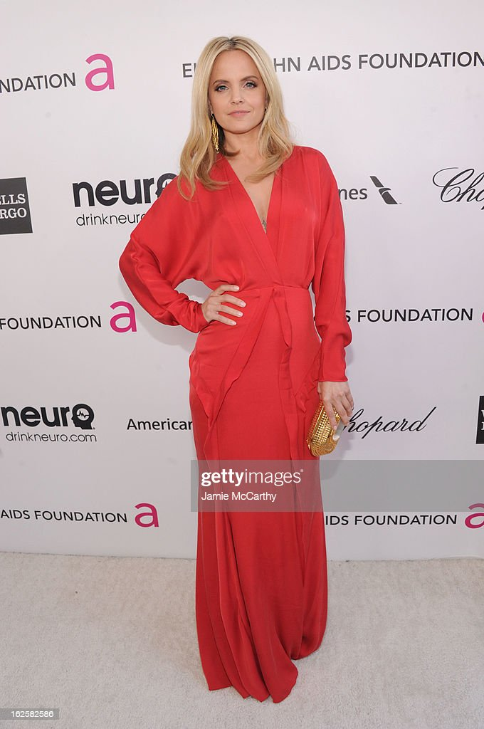 Actress Mena Suvari attends the 21st Annual Elton John AIDS Foundation Academy Awards Viewing Party at West Hollywood Park on February 24 2013 in...