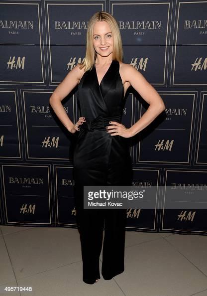 Actress Mena Suvari attends the Balmain x HM Los Angeles VIP PreLaunch on November 4 2015 in West Hollywood California