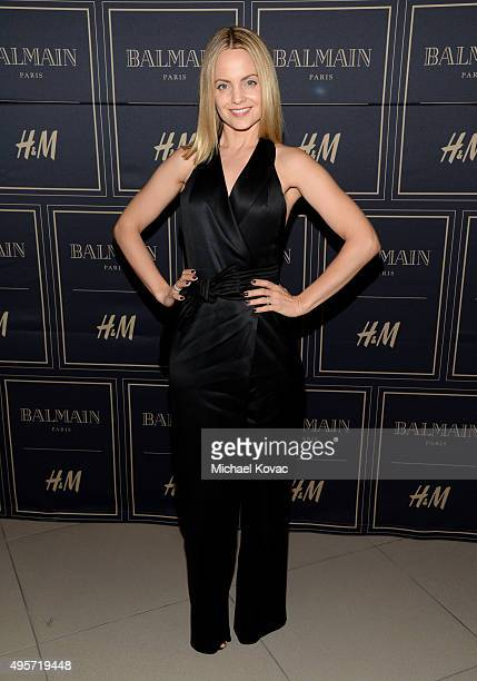 Actress Mena Suvari attends the Balmain x HM Los Angeles VIP PreLaunch on November 4 2015 in West Hollywood California