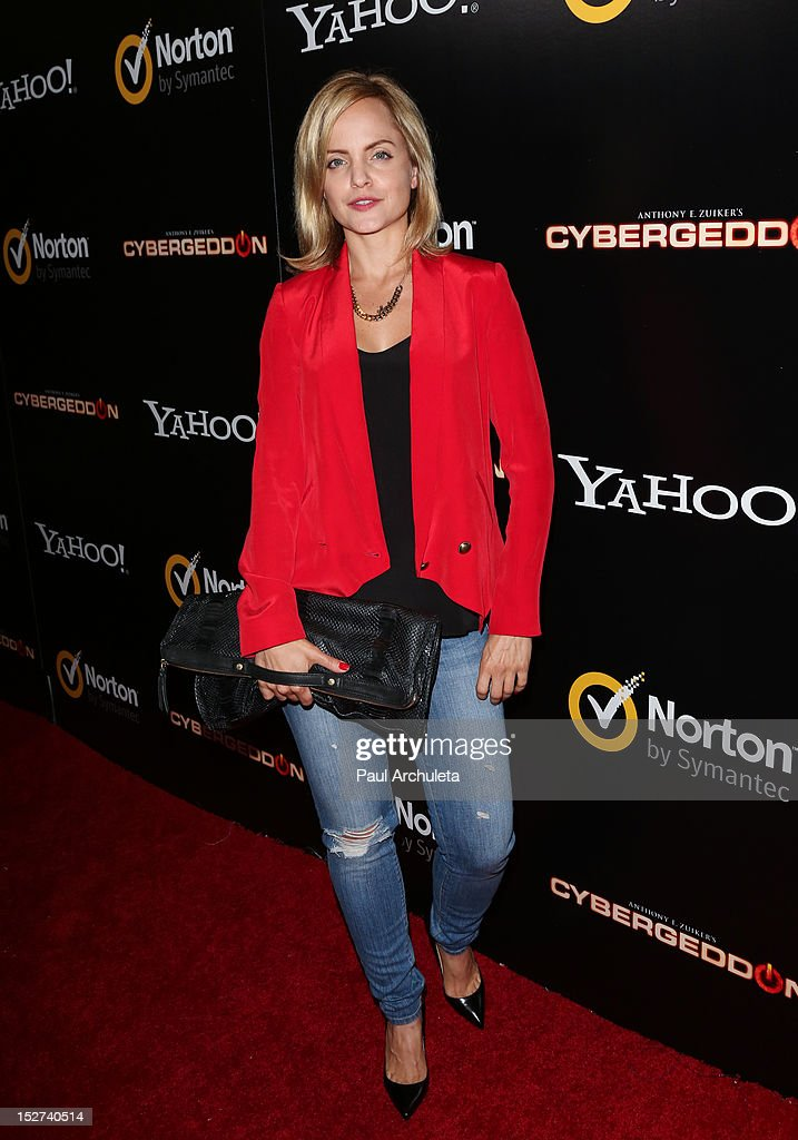 Actress Mena Suvari attends the 'Cybergeddon' premiere at the Pacific Design Center on September 24, 2012 in West Hollywood, California.