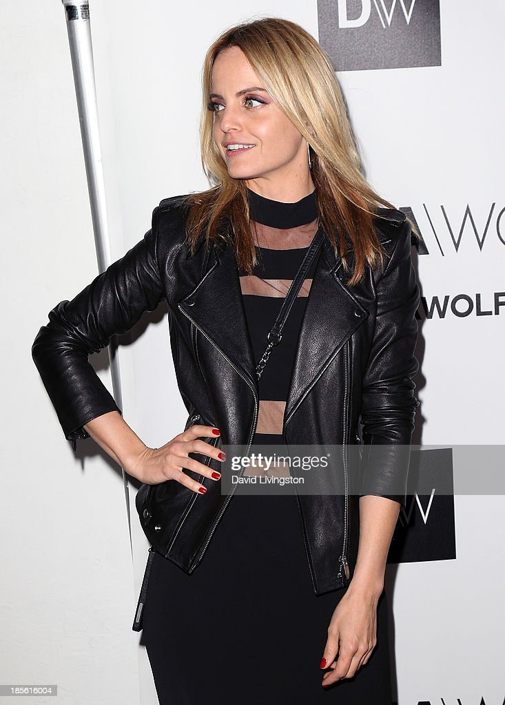 Actress Mena Suvari attends the Dahlia Wolf Launch Party at the Graffiti Cafe on October 22, 2013 in Los Angeles, California.