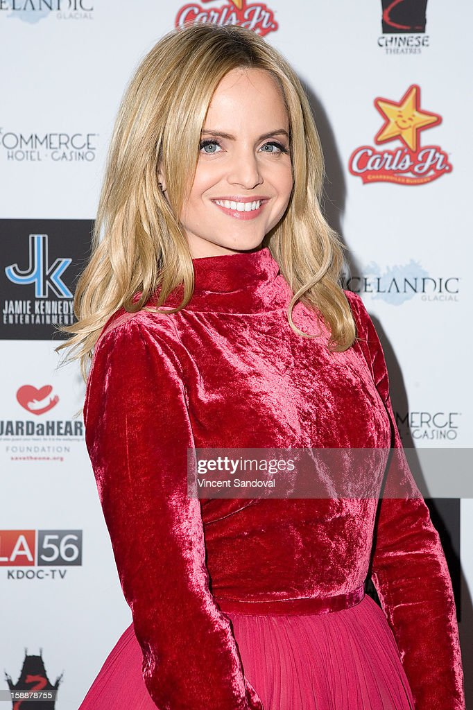 Actress Mena Suvari attends the 'First Night 2013' New Year's Eve Party hosted by Jamie Kennnedy at Grauman's Chinese Theatre on December 31, 2012 in Hollywood, California.