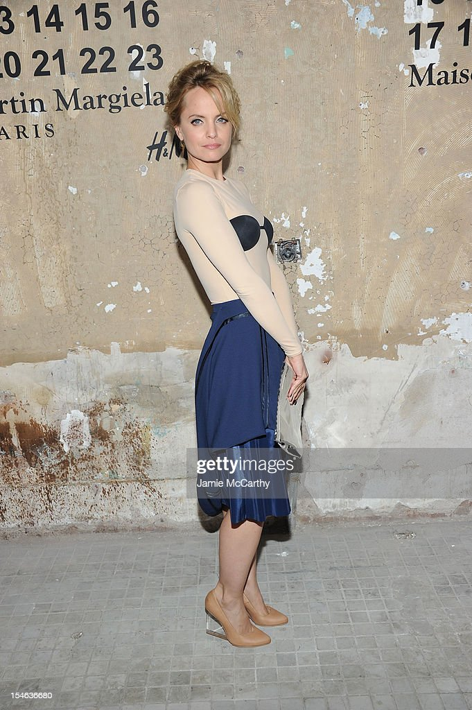 Actress Mena Suvari attends the Maison Martin Margiela with H&M global launch event at 5 Beekman on October 23, 2012 in New York City.