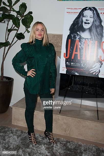 Actress Mena Suvari attends the Screening of FilmRise's 'Janis Little Girl Blue' on November 8 2015 in Los Angeles California