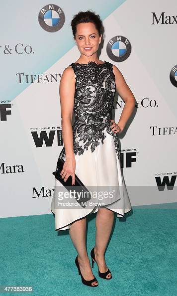 Actress Mena Suvari attends the Women in Film 2015 Crystal Lucy Awards at the Hyatt Regency Century Plaza Hotel on June 16 2015 in Los Angeles...