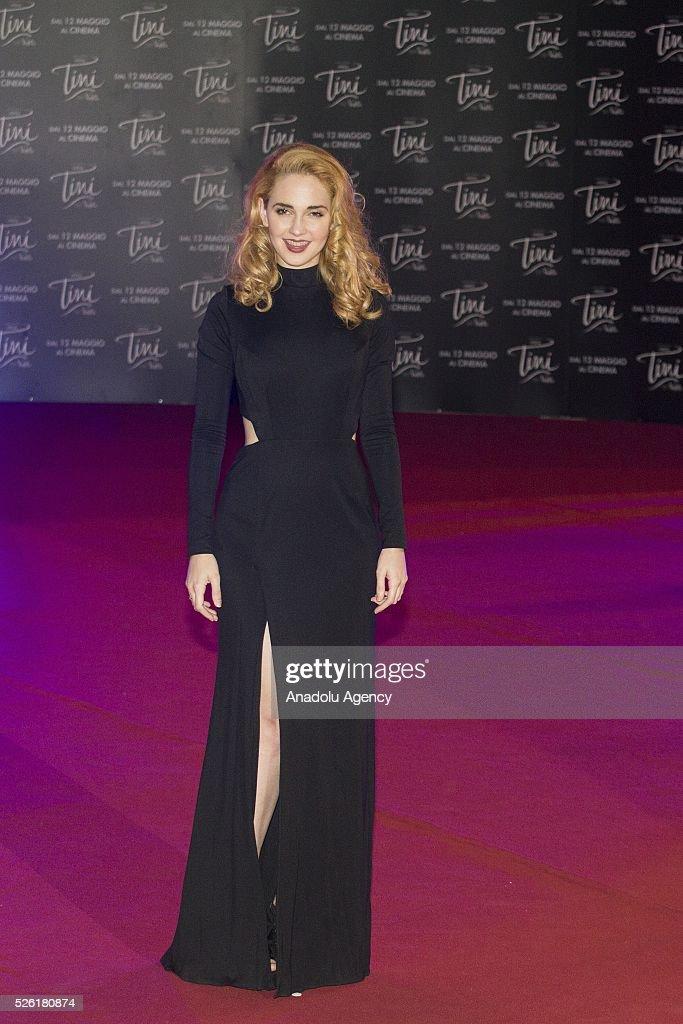 Actress Mercedes Lambre attends the premiere of Tini-La nuova vita di Violetta at Auditorium Parco della Musica on April, 29, 2016 in Rome, Italy.